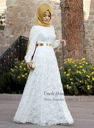 islamic wedding dresses arab muslim wedding dress lace sleeve zipper bridal gown