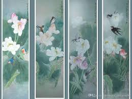 Decoration Taste The Lotus Painting Series From Xiaoli Xu A Famous Chinese Painters