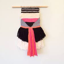layered fringe woven wall hanging by esther pallett