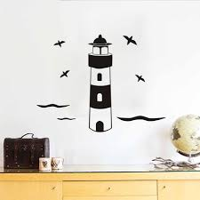 Lighthouse Home Decor Online Get Cheap Lighthouse Wall Decals Aliexpress Com Alibaba