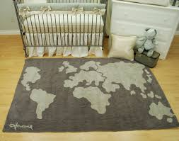 World Map Tablecloth by Shimmery Grey Crib Bedding Set By Pine Creek Bedding With A World