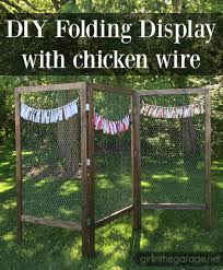 How To Build A Tent by Diy Folding Display With Chicken Wire Chicken Wire Display And