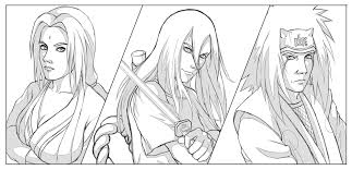 akatsuki coloring pages the legendary sannin vs akatsuki in a more gauntlet esque version