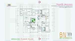 4 Bedroom Home Floor Plans Floor Plan 3d Views And Interiors Of 4 Bedroom Villa Amazing