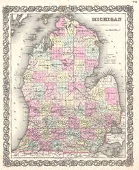 Map Of Michigan by File 1855 Colton Map Of Michigan Geographicus Michigan Colton