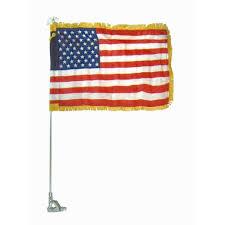 Bvi Flag 12 X 18 In Us Flag W Gold Fringe