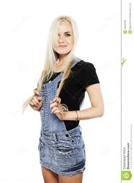 portrait of a smiling in country style clothes stock photo