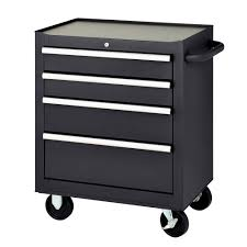 Kennedy Tool Box Side Cabinet Mbi 27 In 4 Drawer Mobile Tool Chest Black Mmb27 4s The Home Depot