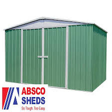 Absco Awning Absco 10 X 12 Pale Eucalyptus Easy Build Apex Metal Shed Waltons