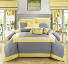 comforter home design ideas gray yellow comforter sets and king