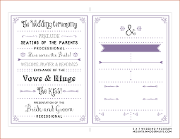 one page wedding program wedding ideas wedding ideas template for programs image