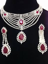 diamond set bridal diamond necklace set at rs 500000 set diamond necklace