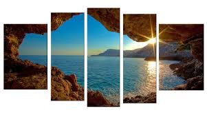 amazon com startonight canvas wall art window sunset water usa