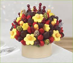 fruit flowers baskets berry chocolate bouquet with dipped dates and mixed toppings