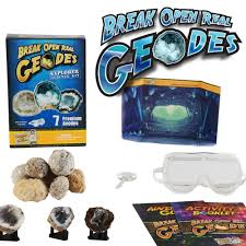 cool science gifts discover with dr cool explorer geode science kit set of 7 geology