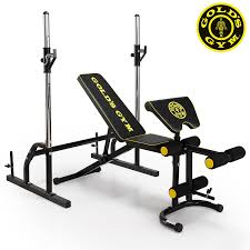 gold u0027s gym deluxe maxi weight bench with power rack amazon co uk