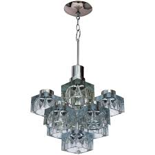 Chandelier For Sale Gaetano Sciolari Ice Cube Chandelier For Lightolier For Sale At