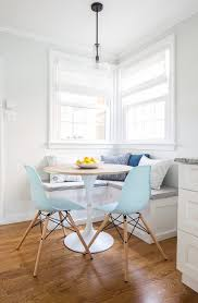 breakfast nook with galley kitchen dining room transitional with