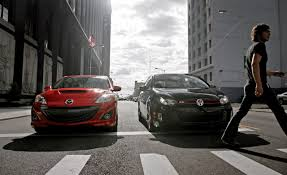 mazda car and driver 2010 mazdaspeed 3 vs 2010 volkswagen gti u2013 comparison test u2013 car