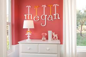 Decorative Wall Letters Nursery How These Letters Are Hung Thats Exactly What I Want Of