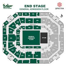 map usf seating charts sun dome