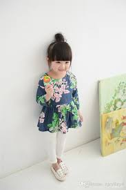 2017 new designer dress floral cotton dress children clothes