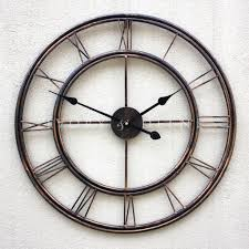 furniture metal wrought iron oversized wall clock french