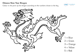 6 images of paets dragon chinese new year coloring page chinese