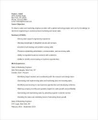 Sale And Marketing Resume Marketing Resume Templates In Word 22 Free Word Documents