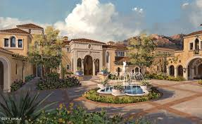 proposed spanish mediterranean estate scottsdale homes house
