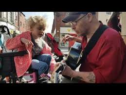 10 Year Old Blind Autistic Boy Seven Year Old Blind Plays The Guitar With Busker Jukin Media