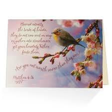 greeting card words of matthew 6 26 greeting card biblical card