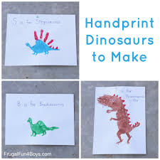 craft for kids handprint dinosaurs
