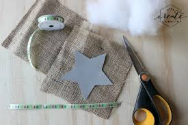 burlap ornaments create celebrate