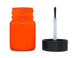 fluorescent orange instrument cluster needle paint bottle with