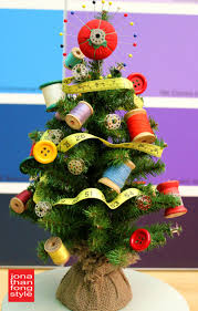 sewing themed tree oh i m so doing this in my sewing