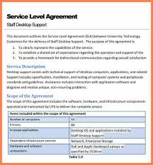 8 software service level agreement template purchase agreement