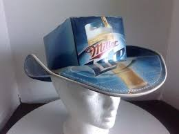 bud light beer box hat beer box cowboy hat made from recycled bud light boxes nascar party