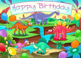 dinosaur birthday happy birthday card with dinosaurs by ddraw graphicriver