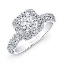 diamond halo rings images 14k white gold square diamond halo engagement ring jpg