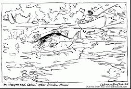 terrific fish coloring pages with fishing coloring pages