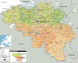 belguim map map of and belgium with cities major tourist