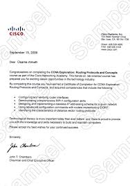 examples of certificates of completion certificates and letters