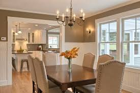 Pictures Of Wainscoting In Dining Rooms Traditional Dining Room With Wall Sconce U0026 Chandelier In Stow Ma