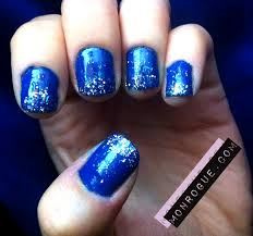 nail designs blue glitter tipped nails the makeup kit