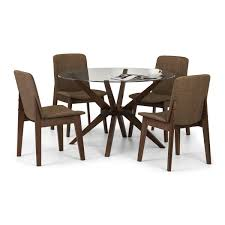 julian bowen chelsea round dining set with 4 kensington dining chairs