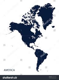 Americas Map by Americas Map Stock Vector 440223031 Shutterstock