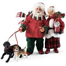 possible dreams santas santa and mrs claus walking the dogs possible dreams figurine