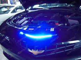 blue light on car led knight rider scanner light on chevy camaro ijdmtoy blog for