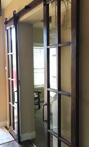 Mirrored Barn Door by Barn Doors Dallas Tx Sliding Barn Door Installation Dallas